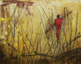 Masai MIxta sobre tabla 120 x 150 cm